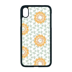 Stamping Pattern Yellow Iphone Xr Seamless Case (black)
