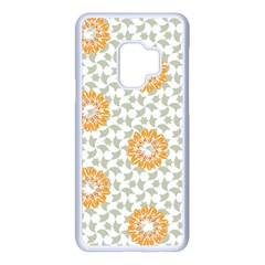 Stamping Pattern Yellow Samsung Galaxy S9 Seamless Case(white)