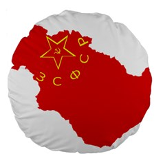 Flag Map Of Transcaucasian Socialist Federative Soviet Republic (1922–1936) Large 18  Premium Round Cushions by abbeyz71
