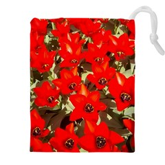Columbus Commons Red Tulips Drawstring Pouch (xxxl)