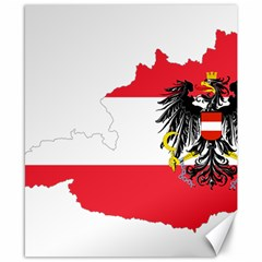 Flag Map Of Austria  Canvas 8  X 10  by abbeyz71