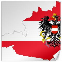 Flag Map Of Austria  Canvas 20  X 20  by abbeyz71