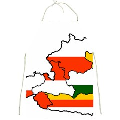 Austrian States Flag Map Full Print Aprons by abbeyz71