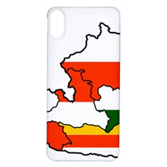 Austrian States Flag Map Iphone X/xs Soft Bumper Uv Case