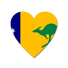 Proposed All Australian Flag Heart Magnet by abbeyz71