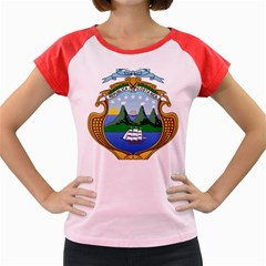 Coat Of Arms Of Costa Rica Women s Cap Sleeve T Shirt by abbeyz71