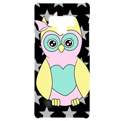 Sowa Child Owls Animals Samsung Note 9 Black Uv Print Case