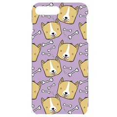 Corgi Pattern Iphone 7/8 Plus Black Uv Print Case
