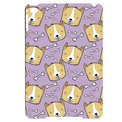 Corgi Pattern Apple Ipad Mini 4 Black Uv Print Case