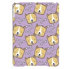 Corgi Pattern Apple Ipad Pro 9 7   Black Uv Print Case