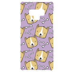 Corgi Pattern Samsung Note 9 Black Uv Print Case