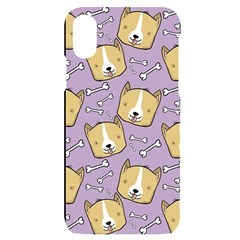 Corgi Pattern Iphone X/xs Black Uv Print Case