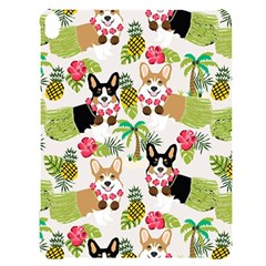 Corgis Hula Pattern Apple Ipad Pro 12 9   Black Uv Print Case