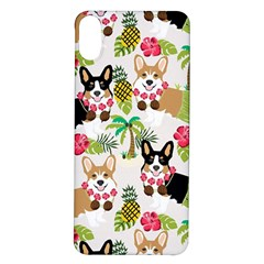 Corgis Hula Pattern Iphone X/xs Soft Bumper Uv Case