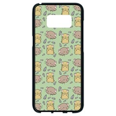 Hamster Pattern Samsung Galaxy S8 Black Seamless Case by Sapixe