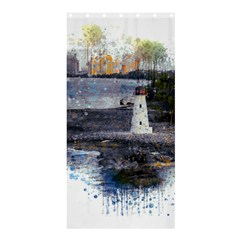 Lighthouse Art Sea Ocean Vintage Shower Curtain 36  X 72  (stall)