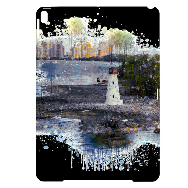 Lighthouse Art Sea Ocean Vintage Apple iPad Pro 10.5   Black UV Print Case