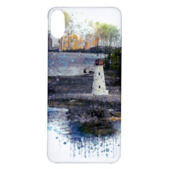 Lighthouse Art Sea Ocean Vintage Iphone X/xs Soft Bumper Uv Case