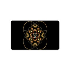 Fractal Stained Glass Ornate Magnet (name Card)