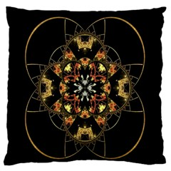 Fractal Stained Glass Ornate Standard Flano Cushion Case (one Side) by Sapixe
