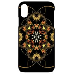Fractal Stained Glass Ornate Iphone Xr Black Uv Print Case