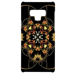 Fractal Stained Glass Ornate Samsung Note 9 Black Uv Print Case