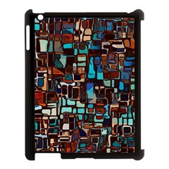 Stained Glass Mosaic Abstract Apple Ipad 3/4 Case (black) by Sapixe