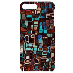 Stained Glass Mosaic Abstract Iphone 7/8 Plus Black Uv Print Case