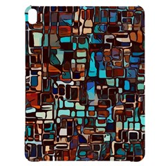 Stained Glass Mosaic Abstract Apple Ipad Pro 12 9   Black Uv Print Case