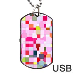The Framework Paintings Square Dog Tag Usb Flash (two Sides) by Sapixe