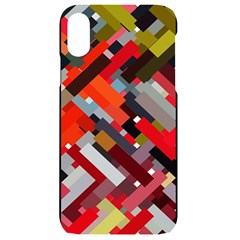 Maze Mazes Fabric Fabrics Color Iphone Xr Black Uv Print Case