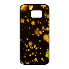 Background Black Blur Colorful Samsung Galaxy S7 Edge Black Seamless Case