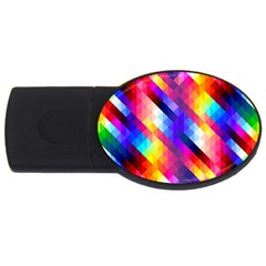 Abstract Background Colorful Pattern Usb Flash Drive Oval (4 Gb) by Sapixe