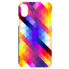 Abstract Background Colorful Pattern Iphone X/xs Black Uv Print Case