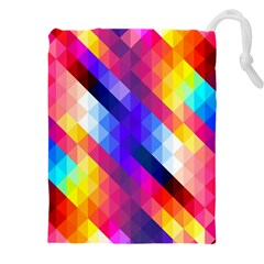 Abstract Background Colorful Pattern Drawstring Pouch (xxxl)
