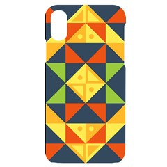 Background Geometric Color Iphone X/xs Black Uv Print Case