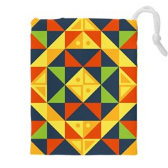 Background Geometric Color Drawstring Pouch (xxxl)