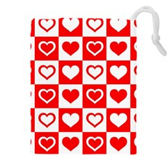 Background Card Checker Chequered Drawstring Pouch (xxxl)
