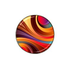 Abstract Colorful Background Wavy Hat Clip Ball Marker (4 Pack)