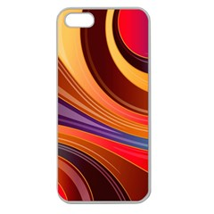 Abstract Colorful Background Wavy Apple Seamless Iphone 5 Case (clear)