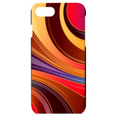 Abstract Colorful Background Wavy Iphone 7/8 Black Uv Print Case