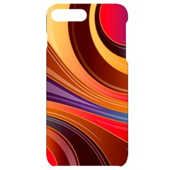 Abstract Colorful Background Wavy Iphone 7/8 Plus Black Uv Print Case