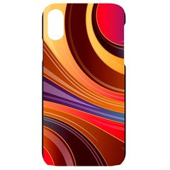 Abstract Colorful Background Wavy Iphone Xr Black Uv Print Case