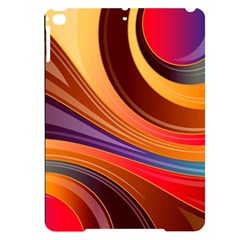 Abstract Colorful Background Wavy Apple Ipad Pro 9 7   Black Uv Print Case