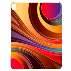 Abstract Colorful Background Wavy Apple Ipad Pro 12 9   Black Uv Print Case