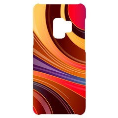 Abstract Colorful Background Wavy Samsung S9 Black Uv Print Case