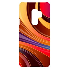 Abstract Colorful Background Wavy Samsung S9 Plus Black Uv Print Case