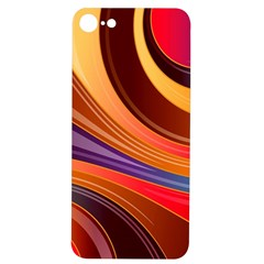 Abstract Colorful Background Wavy Iphone 7/8 Soft Bumper Uv Case
