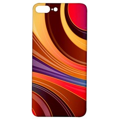 Abstract Colorful Background Wavy Iphone 7/8 Plus Soft Bumper Uv Case