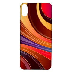 Abstract Colorful Background Wavy Iphone X/xs Soft Bumper Uv Case
